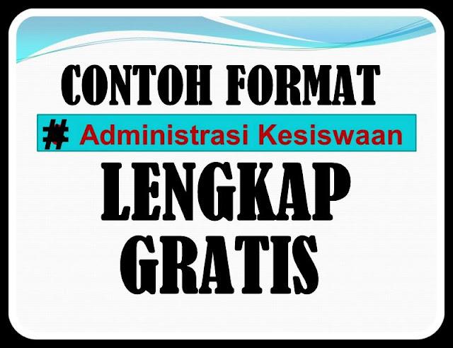 Download Contoh Administrasi Kesiswaan Lengkap GRATIS