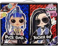 Куклы L.O.L. Surprise O.M.G. Remix мальчик Rocker Boi и девочка Punk Grrrl