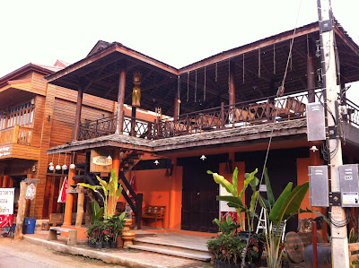 Restaurants in Chiang Khan, North-East Thailand