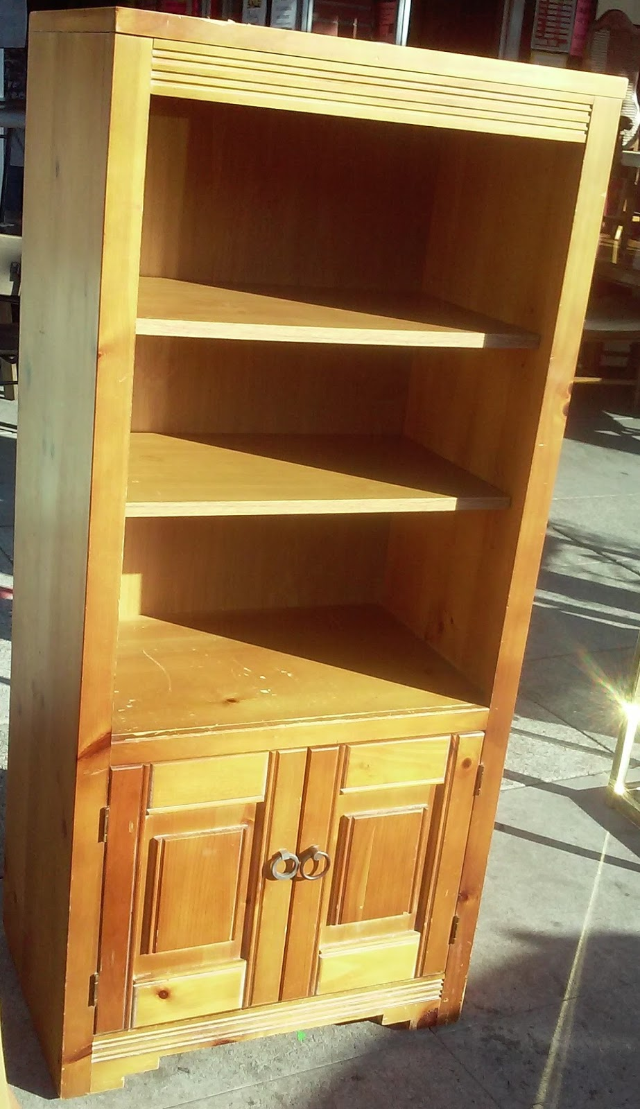 Uhuru Furniture Collectibles Sold Reduced Knotty Pine Storage Unit 25