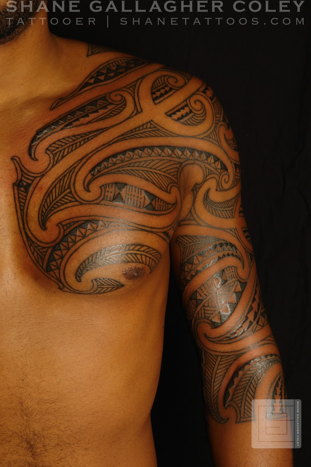 29cc00fb4b MAORI POLYNESIAN TATTOO: Maori/Polynesian Chest Half Sleeve Tattoo
