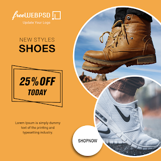 Instagram new styles shoes banner 25% Off Today