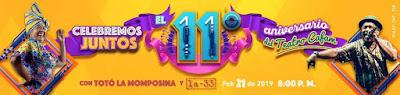 Concierto LA 33 y Toto La Momposina | Teatro Cafam 11 AÑOS