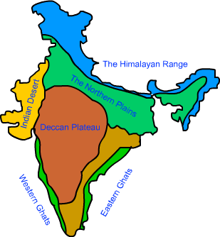 Physical Features Of India Map Mcq of CBSE 9TH CLASS GEOGRAPHY CHAPTER 2 physical features of India Physical Features Of India Map