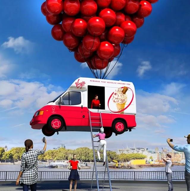 Virgin creates 'airborne' ice-cream van