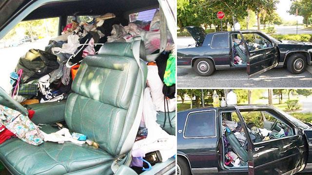 car trash