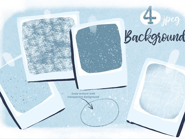 4 Backgrounds and Snow Texture Free Download