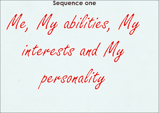 3MS Sequence 1 - Middle School Teacher 's Me, My abilities, My interests and My personality