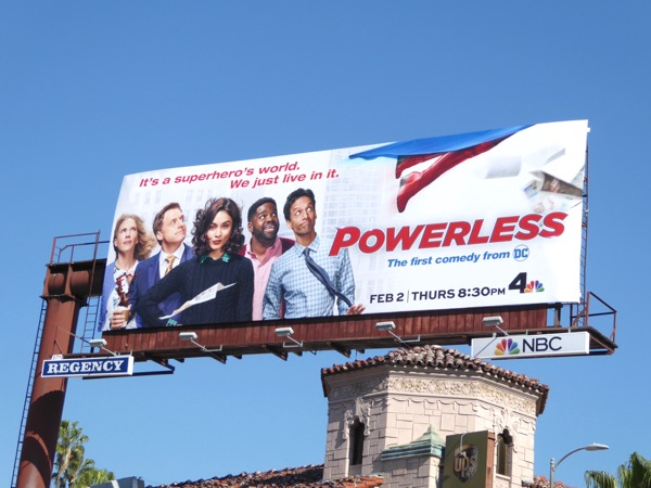 Powerless series premiere billboard