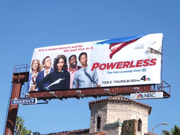 Powerless series premiere billboard
