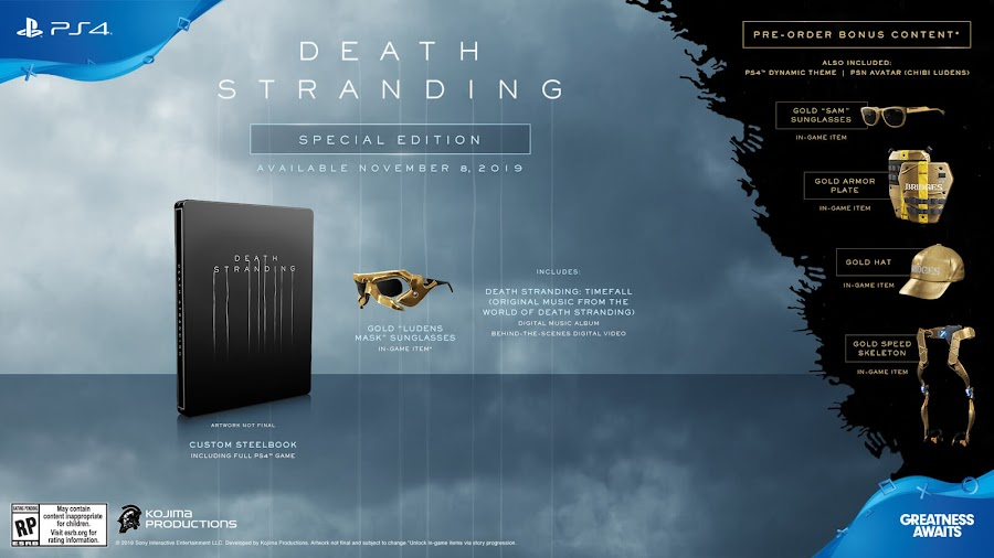 death stranding special edition ps4 exclusive kojima productions