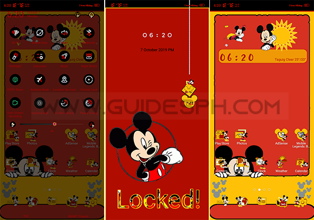 Oppo Theme: My Cute Mickey Theme