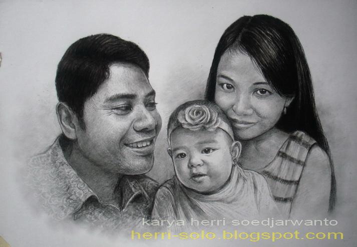 Pelukis Realis Indonesia Herri Soedjarwanto Sketsa Drawing Lukis