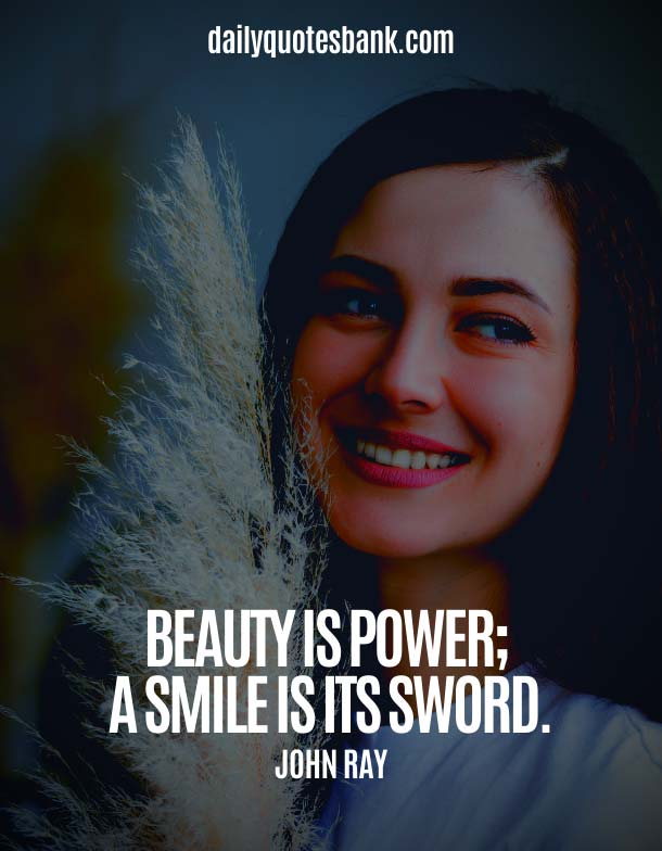 Being Simple Beauty Quotes About Smile