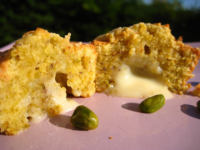muffins chocolat blanc pistache