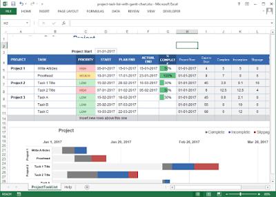 Template ini dapat membantu kamu dengan mudah menambahkan  5 Template Manajemen Proyek Excel Gratis