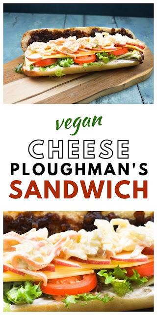 Vegan Cheese Ploughman's Sandwich - A British pub classic.