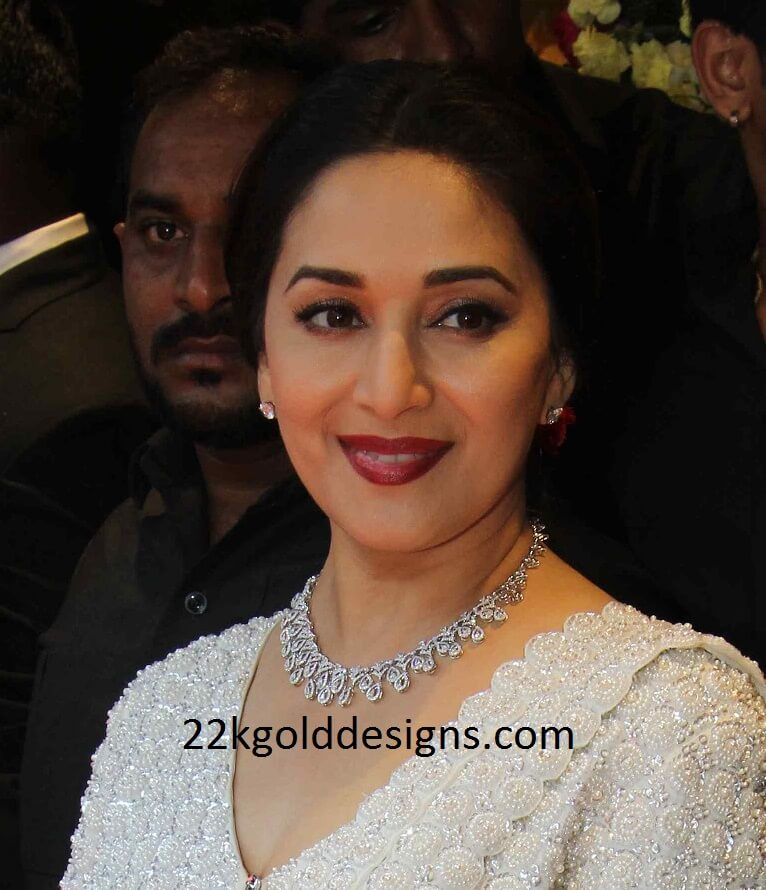 Madhuri Dixit in Lavish Diamond Necklace