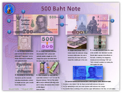 Counterfeit 500.-THB notes in circulation on Koh Samui