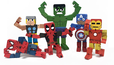 Marvel Comics Wood Warriors Action Figures by PPW Toys - Deadpool