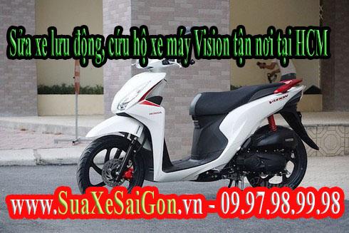 Sửa xe lưu động, cứu hộ xe máy Honda vision tận nơi tại HCM