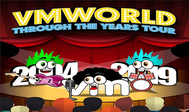 VMworld Through the Years Tour 2004 to 2019 #infographic