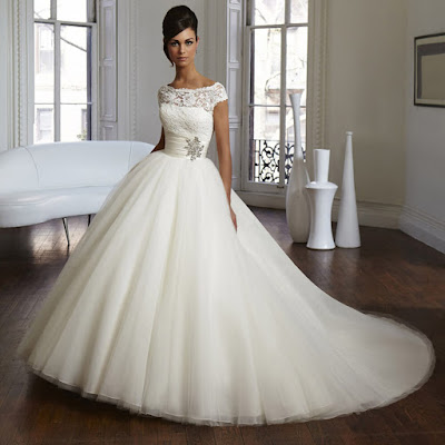 Hot Indian style wedding gown with short sleeve.