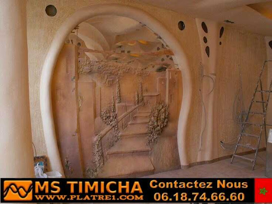 new Photos  art gypsum on the Walls of homes