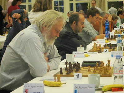 Partida Arthur Jussupow vs. Oliver Kurmann en el Campeonato suizo absoluto de ajedrez por equipos