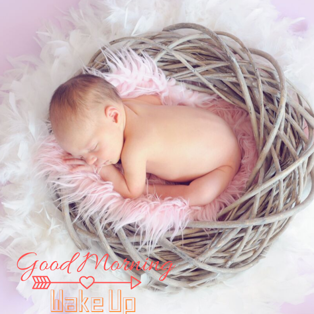 Sleeping little Baby Good Morning Images