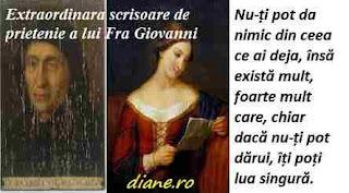 Extraordinara scrisoare de prietenie a lui Fra Giovanni