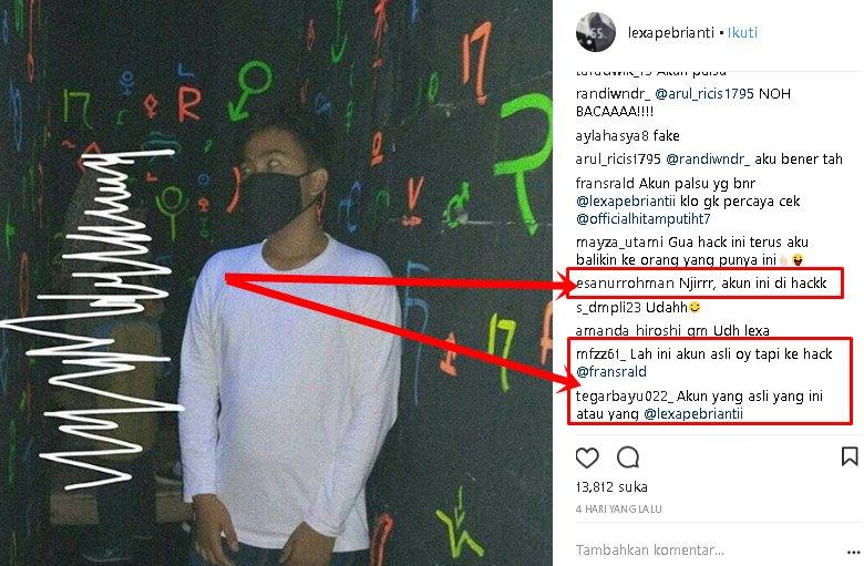 Akun Instagram Lexa Pebrianti 'Ngik ngik Dance' di HACK