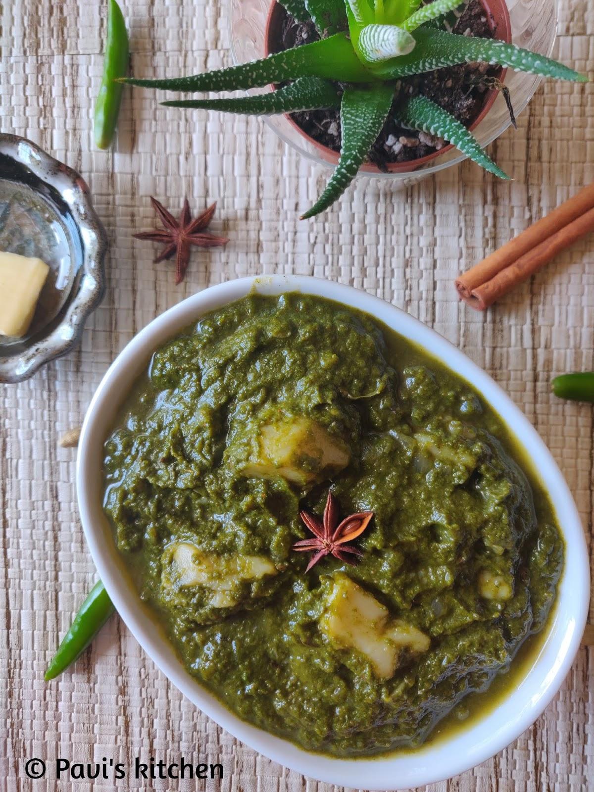 Spinach and Potato Curry Recipe / Aloo Palak Recipe / Saag Aloo Recipe