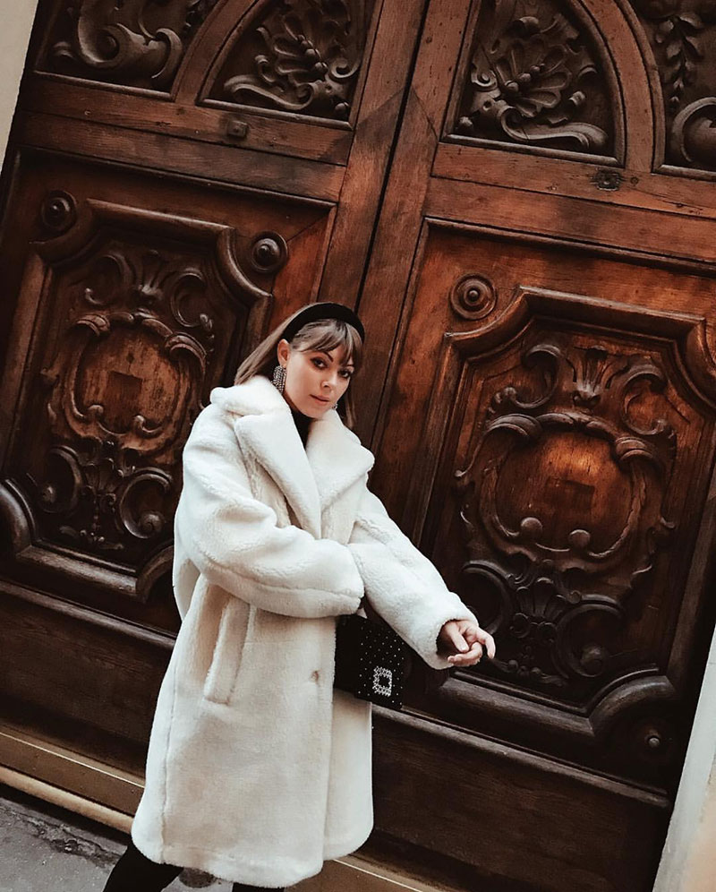 Style File | Mini Trend: Fluffy White Coats for Cosy Winter Days