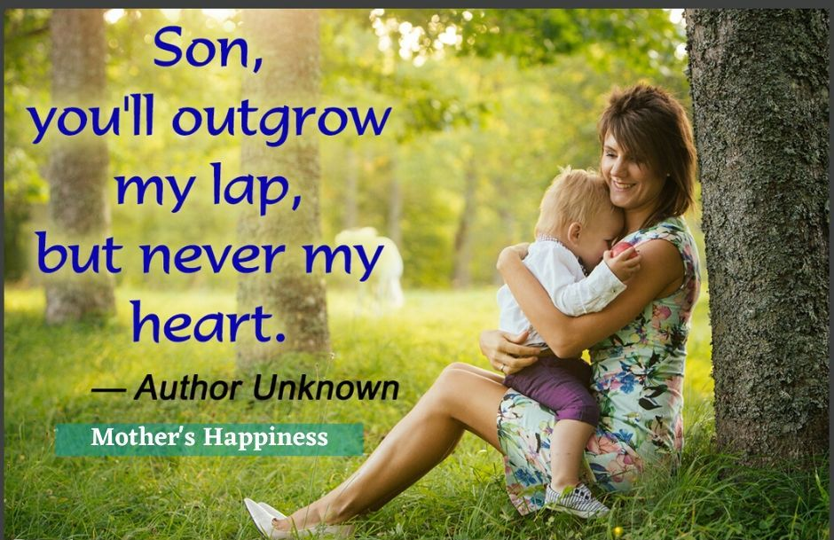 Son, You'll Outgrow My Lap, But Never My Heart HD Wallpaper