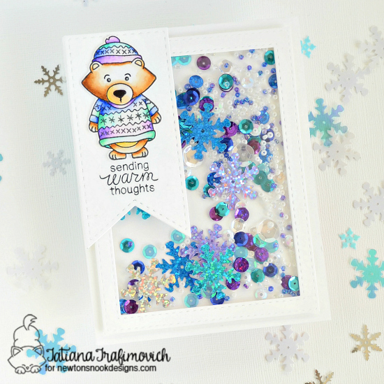 Sending Warm Thoughts Card By Tatiana Trafimovich | Sweater Weather Stamp set by Newton's Nook Designs #newtonsnook