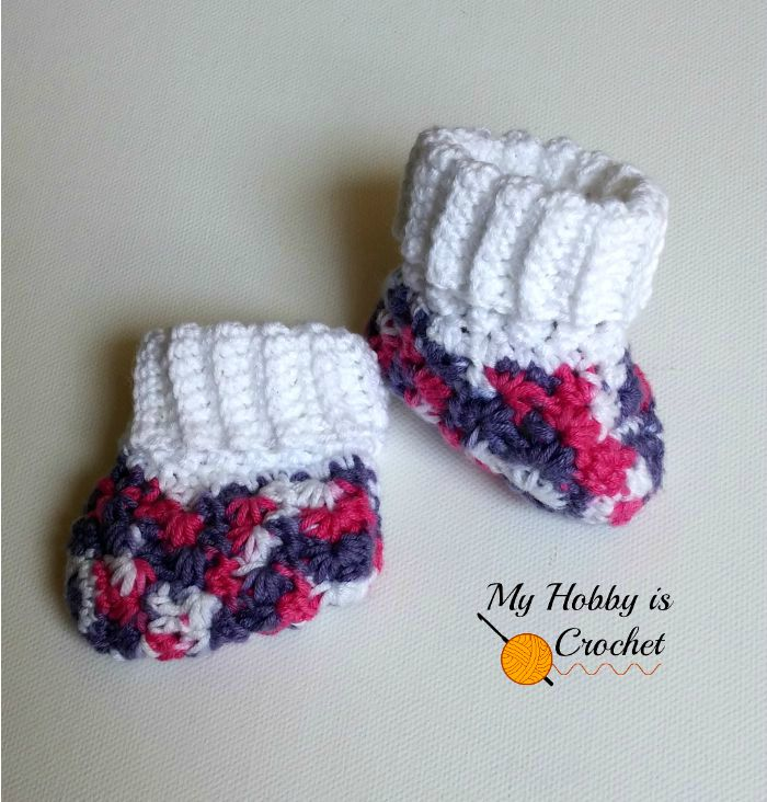 Galaxy Baby Booties - Free Crochet Pattern on myhobbyiscrochet.com