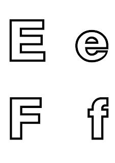 litera e f do druku