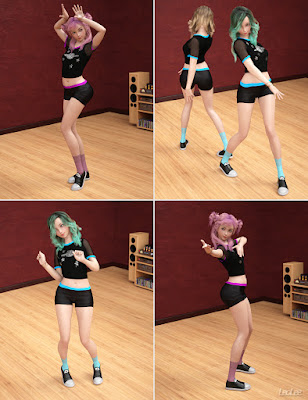 K-Pop Dance Poses for Kanade 8 and Genesis 8 Female