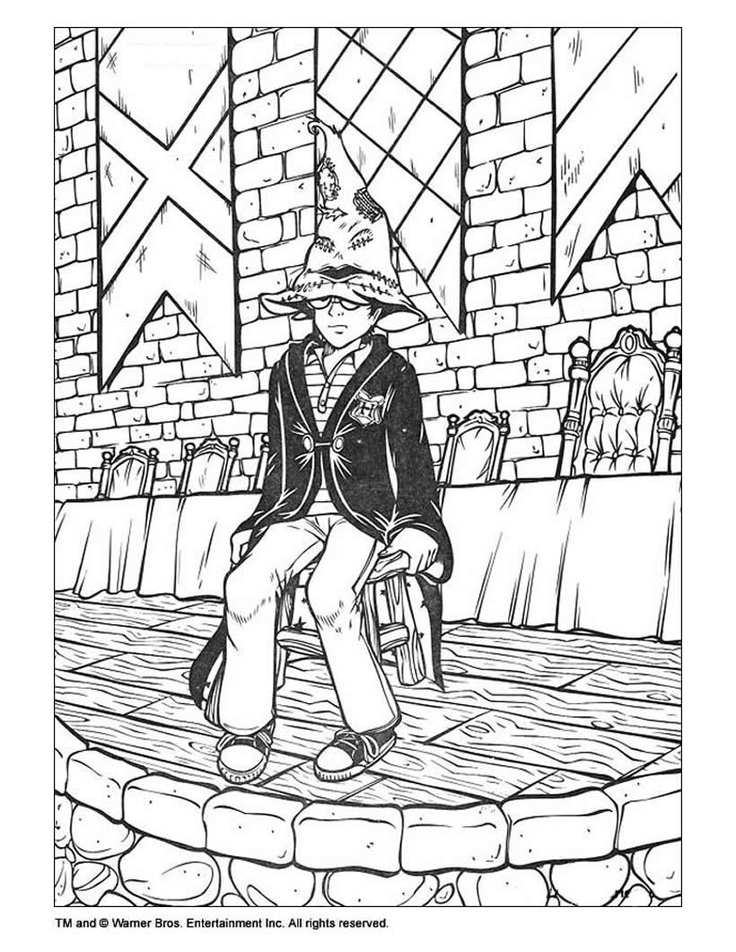 harry potter movie coloring pages - photo#12