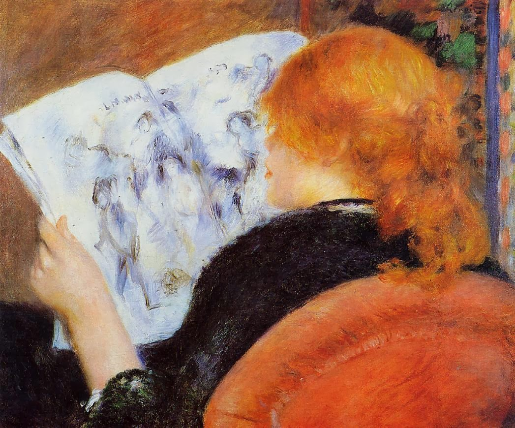 Pierre-Auguste Renoir - Young Woman Reading an Illustrated Journal, 1880
