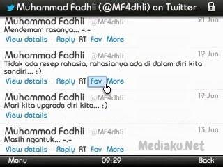 Memfavoritkan Tweet Lewat HP