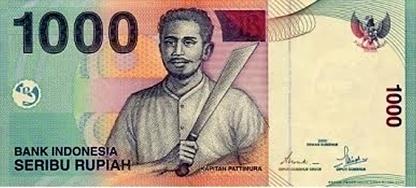 seribu rupiah 2000 depan