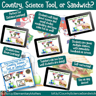 https://www.teacherspayteachers.com/Product/Distance-Learning-Country-Science-Tool-or-Sandwich-BOOM-Digital-Task-Cards-5497983?utm_source=Categorizing%20blog%20post&utm_campaign=country%2C%20science%20tool%2C%20or%20sandwich