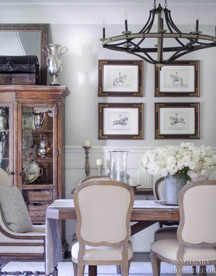 dining room with upholstere chairs