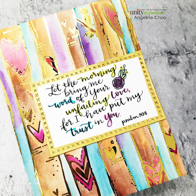 ScrappyScrappy: Unity Stamp May Release - Having Hope #scrappyscrappy #unitystampco #cardmaking #papercraft #handmadecard #stamping #rubberstamp #havinghope #sentimentkit #tonercardfront #decofoil #thermoweb #foiling #watercolor #altenewwatercolor #goldfoil  #bibleverse #bibleart #faithart #documentedfaith