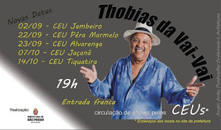 Banner com as novas datas dos shows de Thobias da Vai-Vai