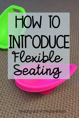 Scoop rockers on a rug with title How to introduce flexible seating
