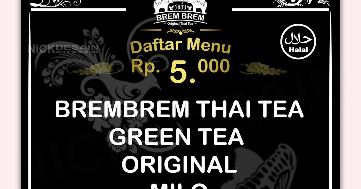 Contoh Desain List Menu / Buku Menu/ Daftar Menu Thai Tea