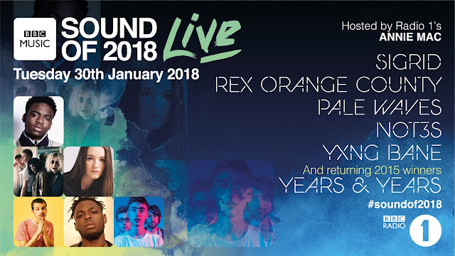 NOT3S, YXNG BANE & MORE TO PERFORM @ BBC MUSIC SOUND OF 2018